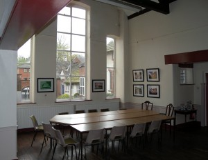 The lecture Room laid out for the first Family History Group meeting